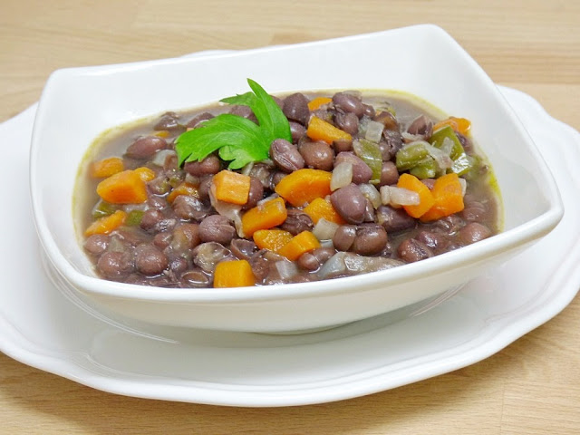 Guiso-judias- azuki-verduras