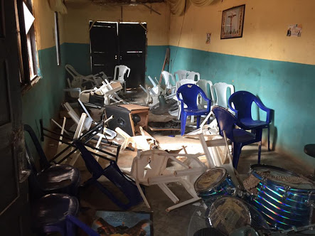 Pastor Accused Of Sleeping With Married Woman... angry mob destroys his church