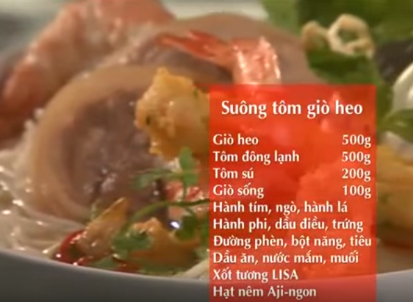 Cách làm món suông tôm giò heo