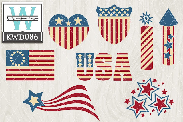 silhouette cameo patriotic juley 4 commercial designs license