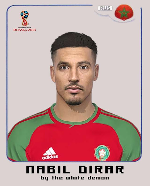 Nabil Dirar Face (World Cup 2018) PES 2018