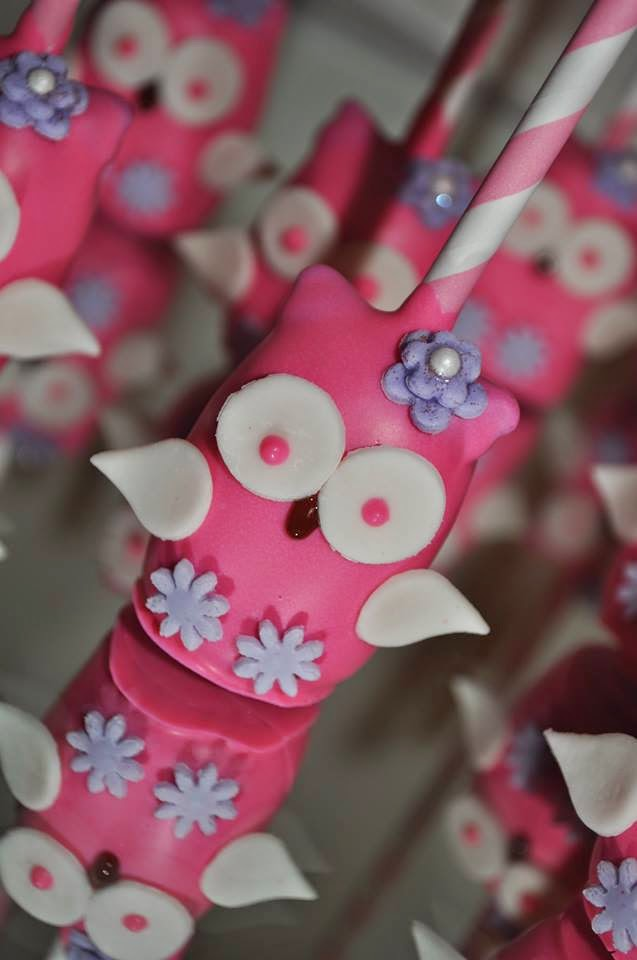 Purple Owl Cake Pops