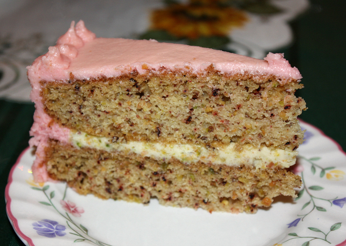 Love Laurie Pistachio Cake With Pomegranate Buttercream