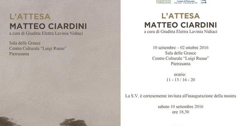 L'Attesa - Matteo Ciardini - a cura di Giuditta Elettra Lavinia Nidiaci