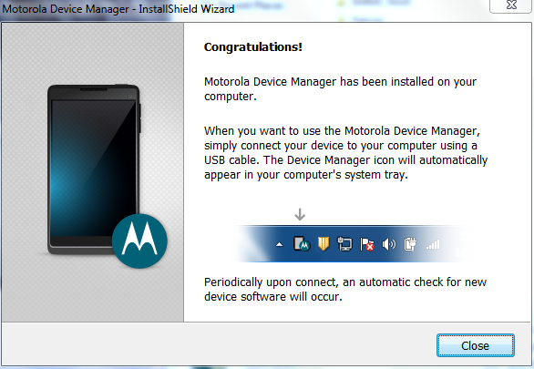 Motorola Device Manager Installation Step 5