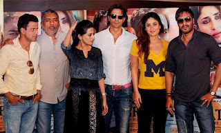 Kareena, Amrita, Ajay & Arjun snapped at Satyagraha promotions in Delhi