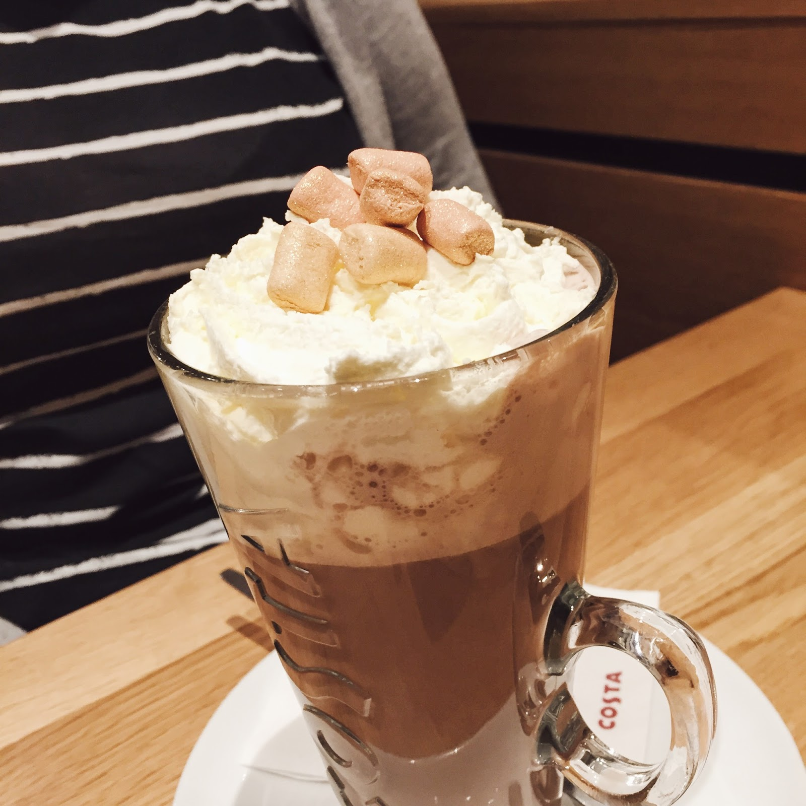 Costa Coffee, Belper, Costa Coffee Hot Chocolate, Katie Writes,
