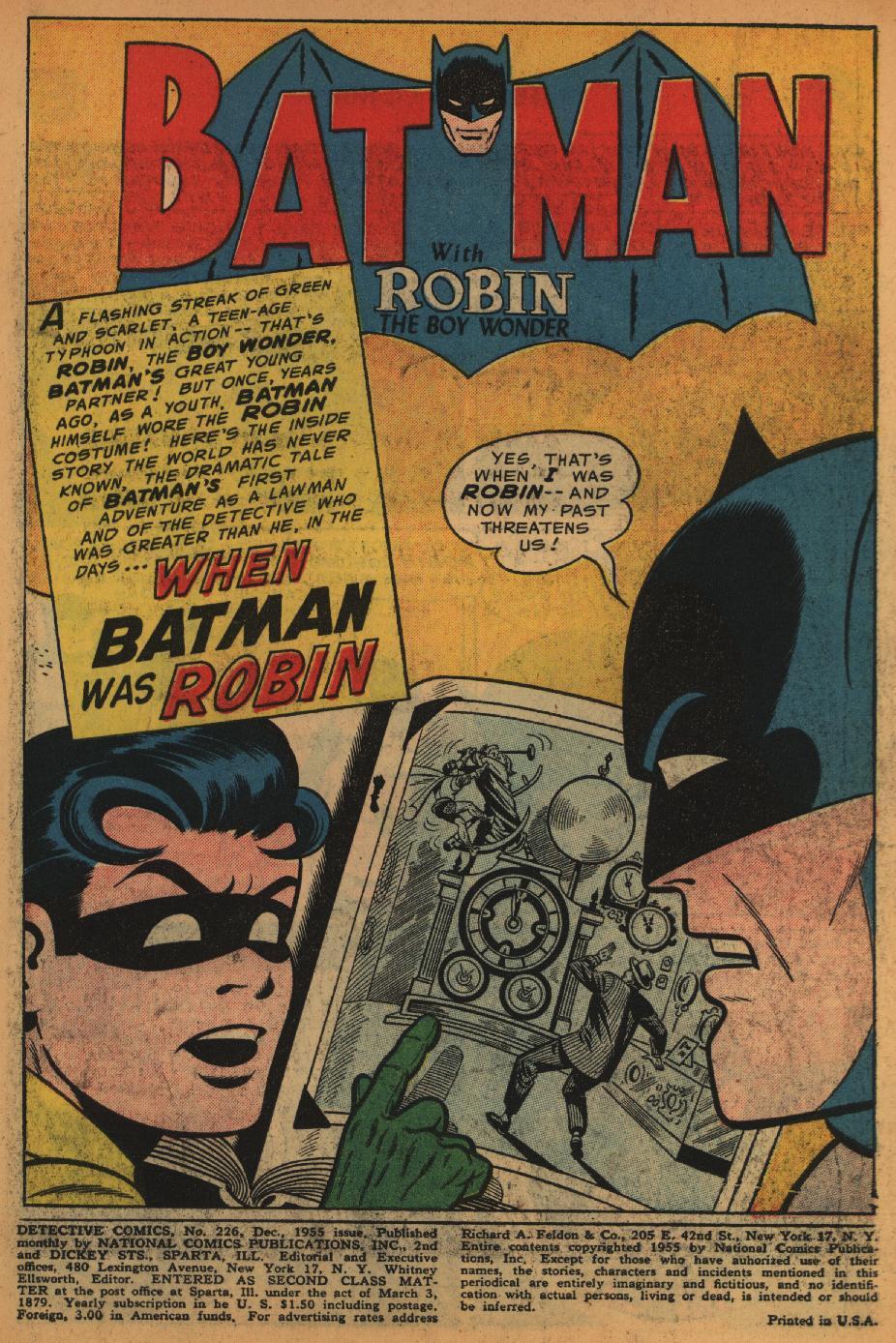 Read online Detective Comics (1937) comic -  Issue #226 - 3