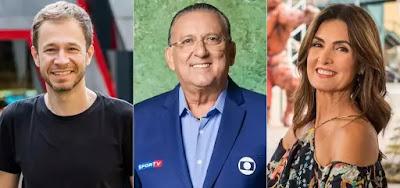 Tiago Leifert, Galvão Bueno e Fátima Bernardes comandam atrações valiosas para os cofres da Globo