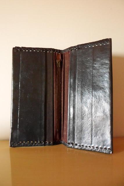 carteira vintage em couro