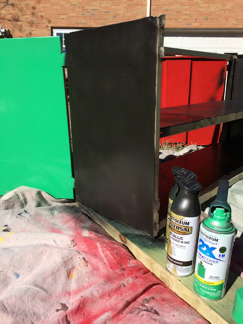 Do you have shelves or cabinets that are an eyesore? Make them look new again with some elbow grease and paint!