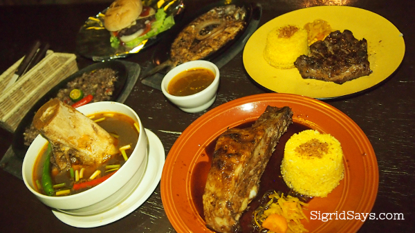Lord Byron's Backribs specialties - Bacolod restaurants