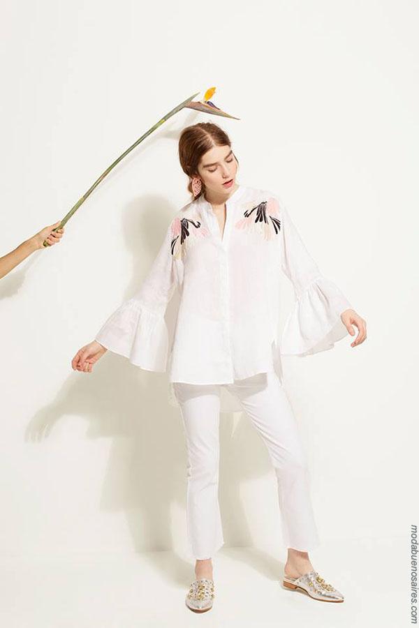 Blusas de moda mujer primavera verano 2018 ropa de mujer.