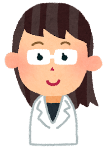 女性の医者の表情のイラスト「笑顔」