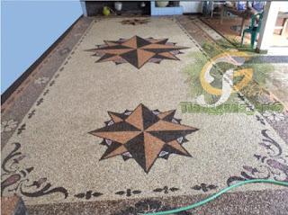 jasa tukang batu sikat lantai carport Surabaya tianggadha art