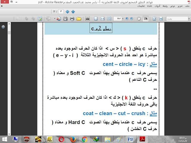 تحميل مذكرة شرح قواعـد النطق الصـحيح لحروف وكلمات اللغة