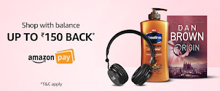 (Live Now) Amazon: Rs 150, Rs 75 Cashback On Purchase of Rs 1000, Rs 250 Using Pay Balance