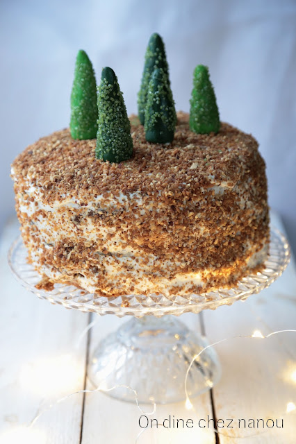 carrot cake , gâteau aux carottes, layer cake