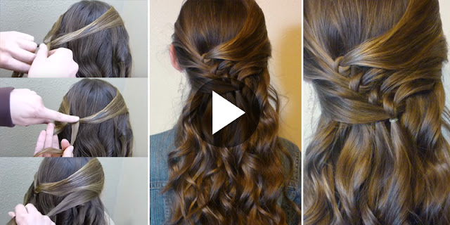 How To Create Diagonal Knots Hairstyle, See Full Tutorial