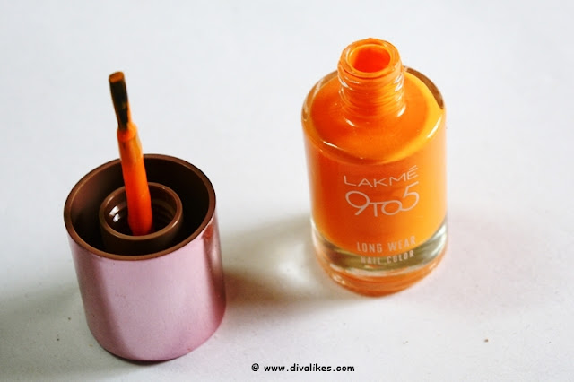 Lakme 9 to 5 Long Wear Nail Color Saffron Space