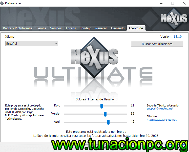 Winstep Nexus Ultimate, Herramienta DOck