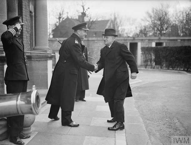 The New Zealand High Commissioner arrives in Portsmouth to inspect the troops, 26 January 1942 worldwartwo.filminspector.com