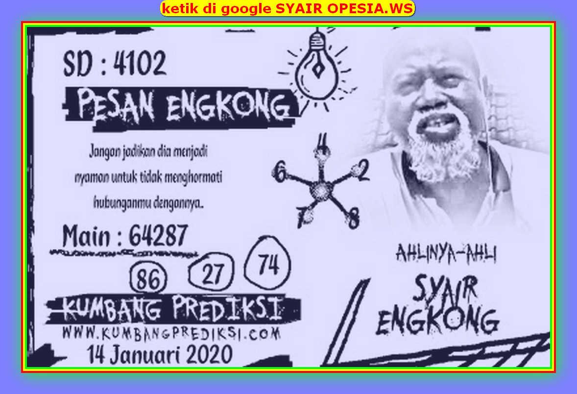 Kode syair Sydney Selasa 14 Januari 2020 136