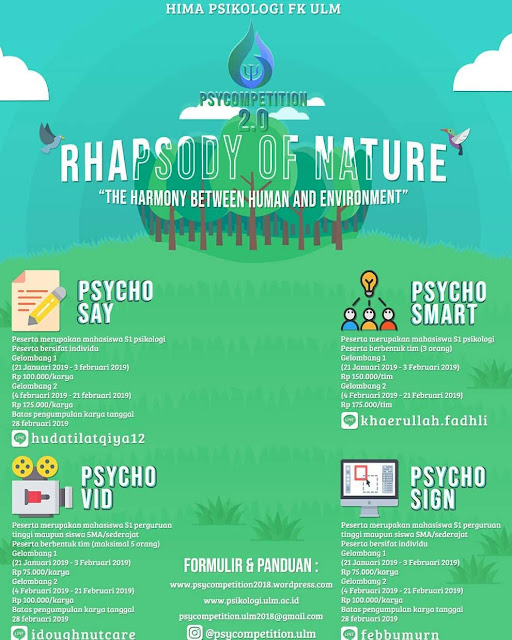 Event Psycompetition 2.0 Rhapsody Of Nature 2019 SMA Sederajat