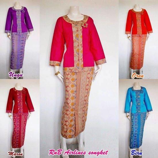 Baju Batik Wanita Model Setelan Terbaru Rok Blus Modern 2015