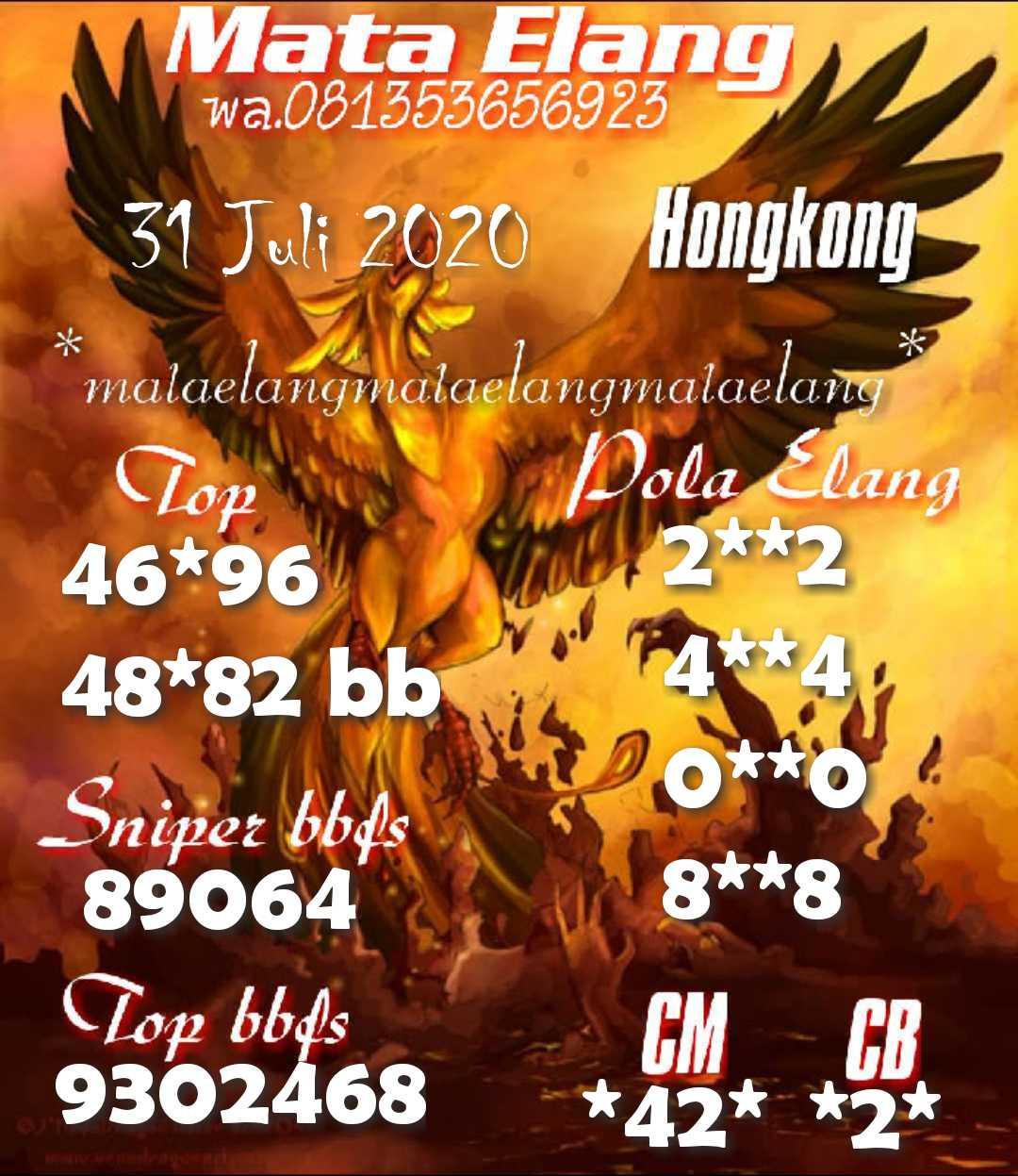 Kode syair Hongkong Jumat 31 Juli 2020 10