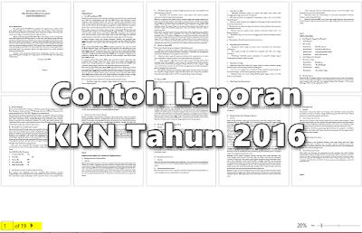 Contoh Laporan Akhir Kegiatan KKN Tahun 2016 Lengkap