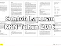 Download Contoh Laporan Akhir Kegiatan KKN Tahun 2016 Lengkap
