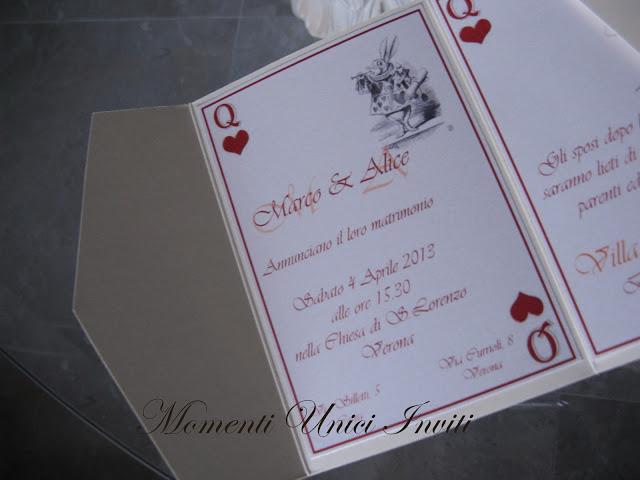 alic Partecipazione tema Alice nel paese delle meravigliePartecipazioni Pocket Tema Alice in wonderland
