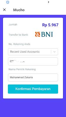 konfirmasi pembayaran di aplikasi mucho