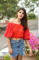 Rhea Chakraborty in Red Crop Top and Denim Shorts Spicy Pics ~  Exclusive 071.JPG