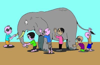 Insistimos ainda na discussão descrita na parábola dos Cegos e o Elefante