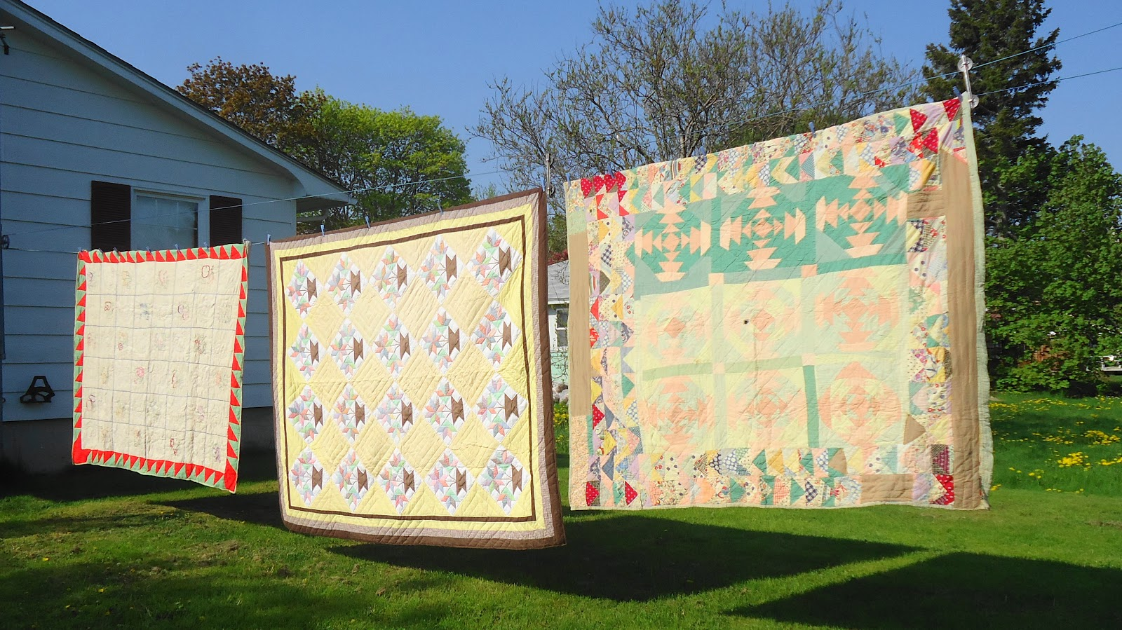 Three Quilts in the Wind
