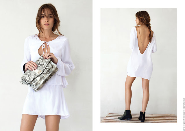 Vestidos de moda 2016 ropa de mujer Pura Pampa. Moda 2016 vestidos.