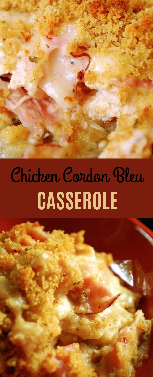 Chicken Cordon Bleu Casserole #chicken #dinner