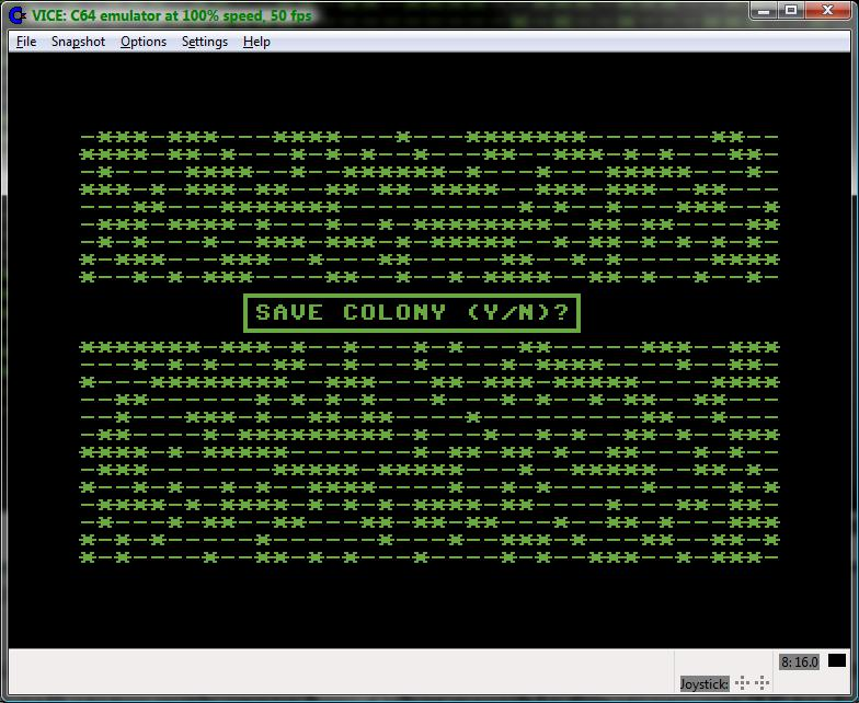 Commodore and Retro Computing: Conway's Game Of Life on a Commodore 64