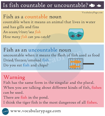 Is fish countable or uncountable?
