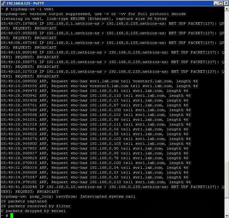 Capture Network Traffic for ESXi host using TCPDUMP