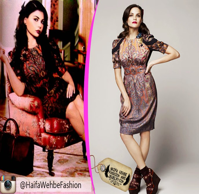 0eff94e966c Haifa Wehbe Wearing Tribal Paisley printed dress by Louis Vuitton