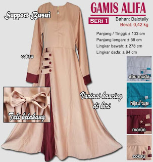 Gamis gaun model baru - alifa 1