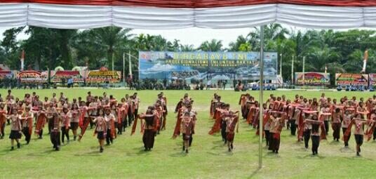 HUT TNI Ke-73 Di Pematangsiantar Dimeriahkan Tari Tao Toba Nauli