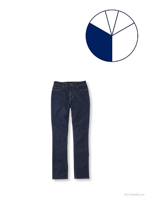 adding dark navy jeans to a summer travel capsule wardrobe