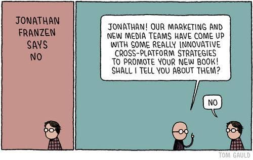 Meme de humor sobre el libro La negación, de Jonathan Franzen