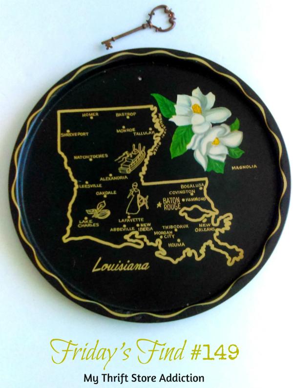 Vintage souvenir state tray
