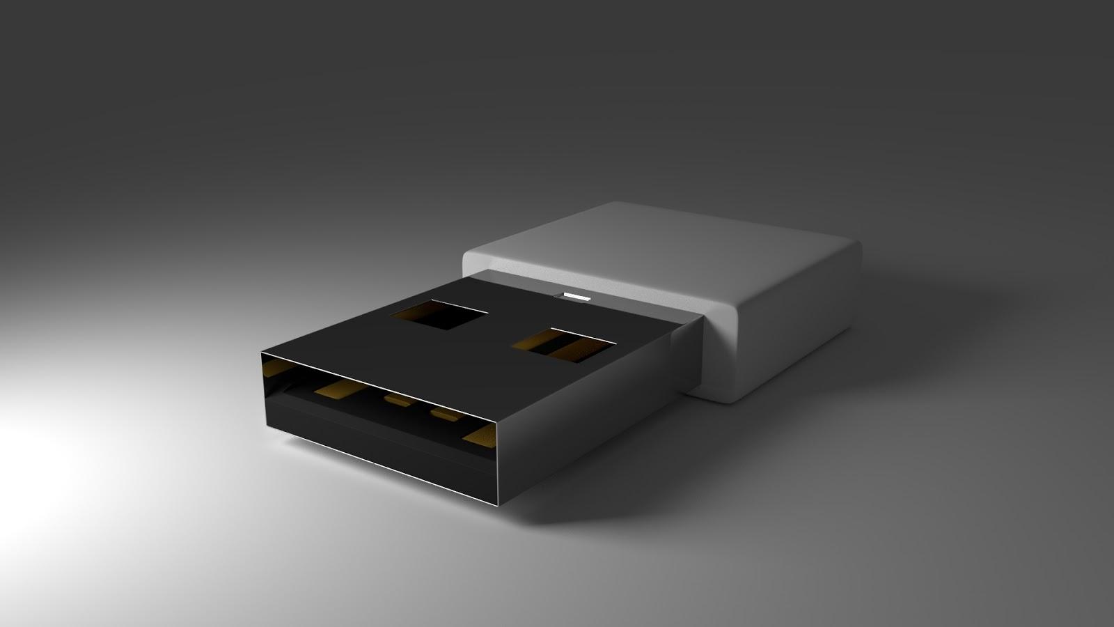 Free 3D USB Drive .blend file