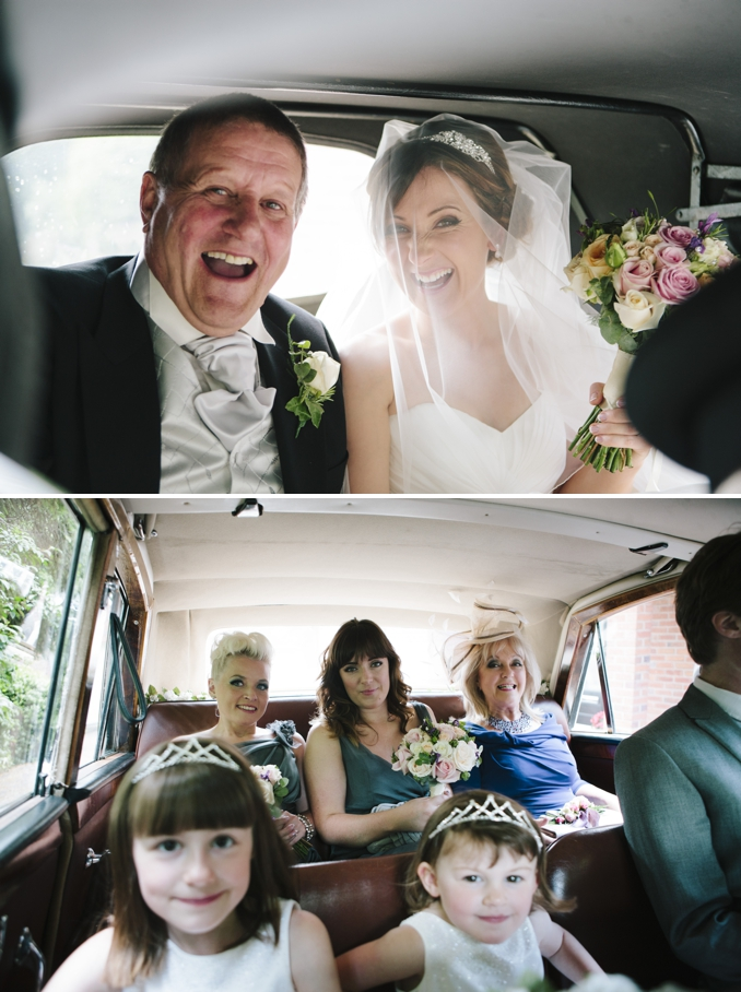 Gorgeous portrait of bride in the car photos by STUDIO 1208